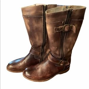 Bed Stu Go Go Distressed Leather Riding Boots 7M